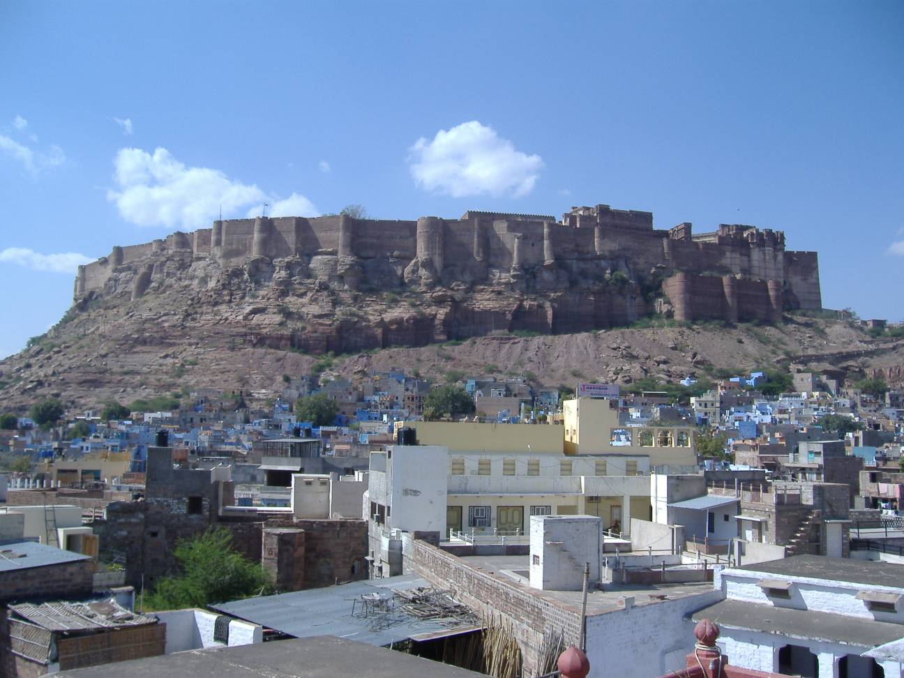 View of Mehrangarh fort in Jodhpur